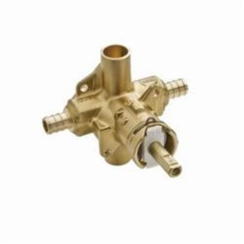 Moen® 62380 M-Pact® Rough-In Valve, 1/2 in Crimp Ring PEX Inlet x 1/2 in Crimp Ring PEX Outlet, Brass Body, Domestic