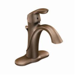 Moen® 6400ORB Eva® Bathroom Faucet, 1.5 gpm, 4-7/8 in H Spout, 1 Handle, Pop-Up Drain, 1 Faucet Hole, Oil Rubbed Bronze, Domestic