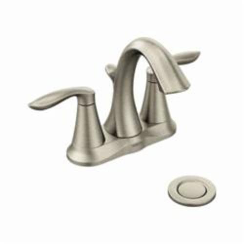 Moen® 6410 Eva® Centerset Bathroom Faucet With Metal Pop-Up Drain