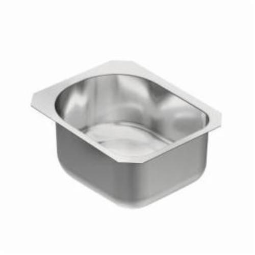 Moen® G18461 Kitchen/Bar Sink, Rectangular, 15 in W x 18-1/2 in H, Under Mount, Stainless Steel, Stainless Steel, Domestic