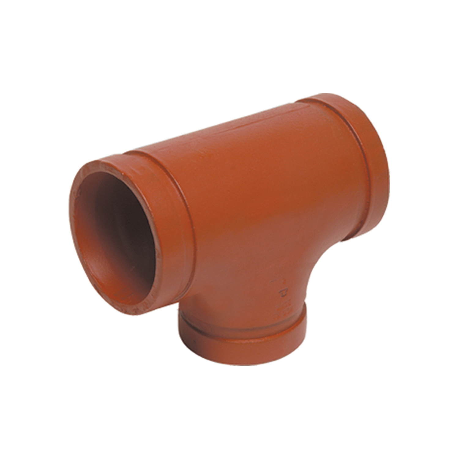 Gruvlok® 0390018620 FIG 7061 Standard Reducing Pipe Tee, 8 x 8 x 4 in, Grooved, Ductile Iron, Domestic