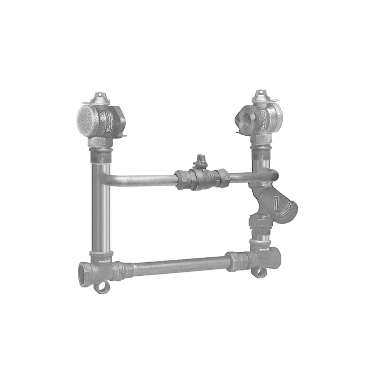 Mueller Co B-2423-99000N Meter Setter, 1-1/2 or 2 in, 1-1/2 or 2 in Flanged Connection, 21.5 or 26.63 in L