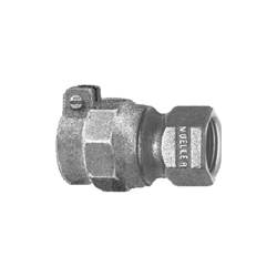 Mueller Co E-15454N 1 Straight Coupling, 1 in, IPS PE Pack Joint x FNPT