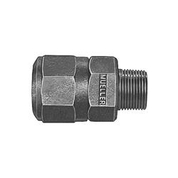 Mueller Co H-15429N 1 Straight Coupling, 1 in, 110 IPS x MNPT, Brass