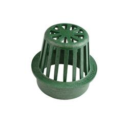 NDS® 75 Catch Basin Grate, 2-3/4 in Dia, 52.01 gpm, 4 in Pipe, Round Atrium Shape, Domestic
