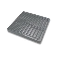 NDS® 1213 Catch Basin Grate, 113.8 gpm, 12 in Pipe, Square Shape, Domestic