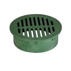 NDS® 50 Catch Basin Grate, 6-3/4 in Dia, 27.84 gpm, 6 in Pipe, Round Shape, Domestic