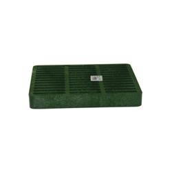 NDS® 990 Catch Basin Grate, 114.69 gpm, 9 in Pipe, Square Shape, Domestic