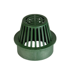 NDS® 80 Catch Basin Grate, 3-7/8 in Dia, 86.88 gpm, 6 in Pipe, Round Atrium Shape, Domestic