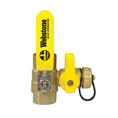 Webstone Ball Drain™ Clean Brass™ Pro-Pal® 4061 Lead Free Ball Valve, 1 in, IPS, Brass, Full Port, Import