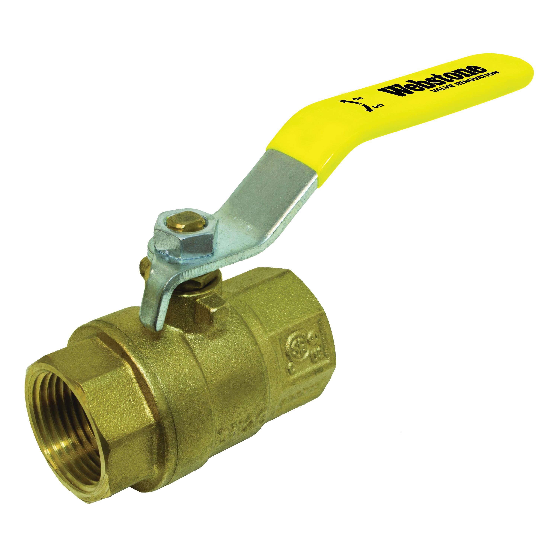 Webstone Clean Brass™ 41702 Ball Valve, 1/2 in, IPS, Brass Body, Full Port