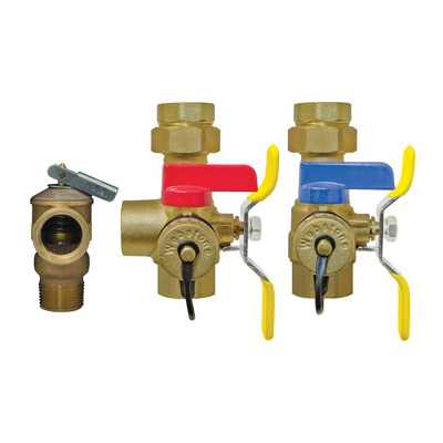 Webstone The Isolator® E-X-P™ Clean Brass™ H-44444WPR 4444 Tankless Water Heater Service Valve Kit, 1 in IPS, Brass, Domestic
