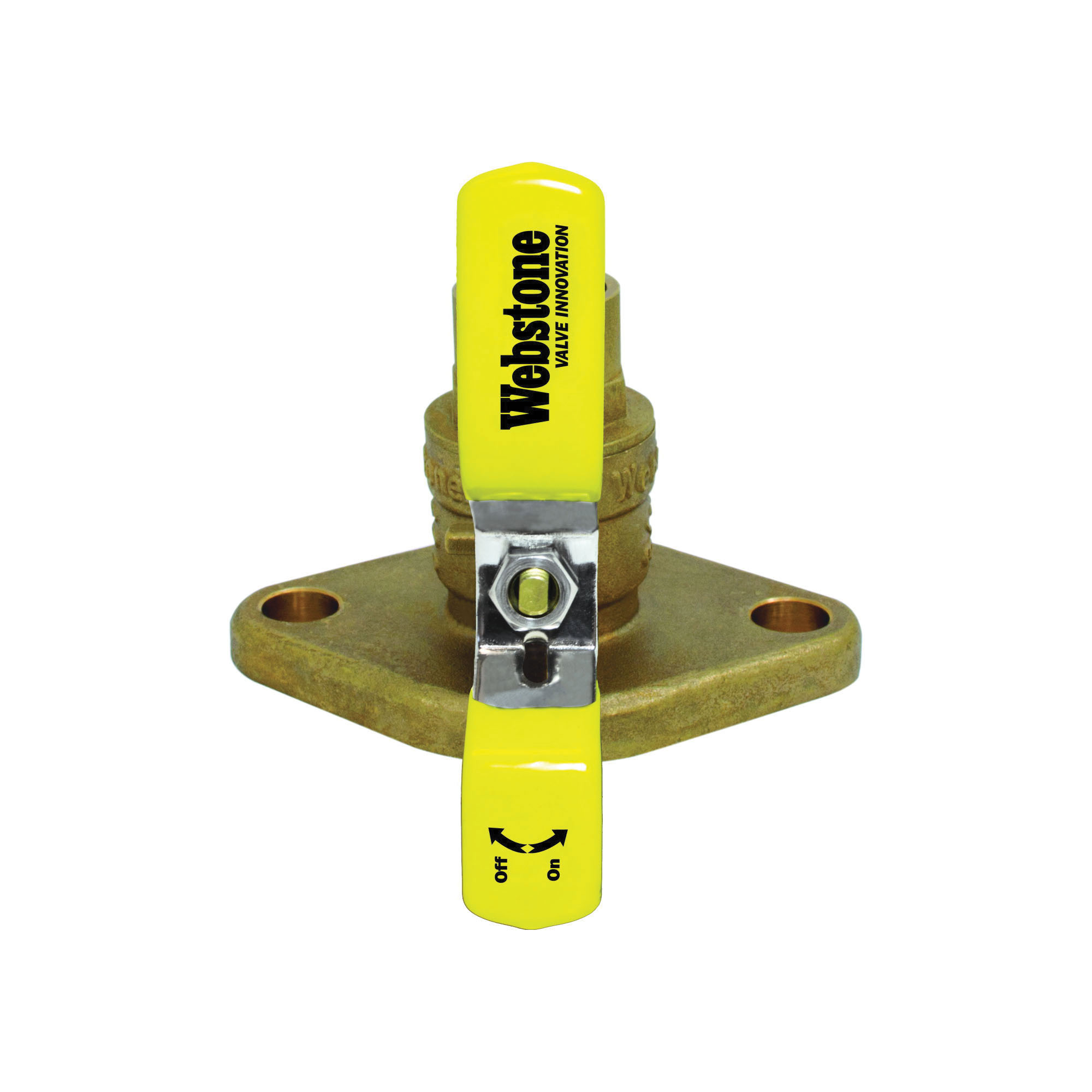 Webstone The Isolator® 50402 Ball Valve, 1/2 in, C x Flange, Brass Body, Full Port