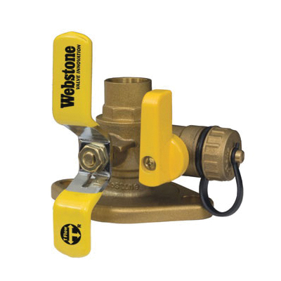 Webstone The Isolator® Pro-Connect Press™ Clean Brass™ 51416 Ball Valve, 1-1/2 in, C x Rotating Flange, Brass Body, Full Port