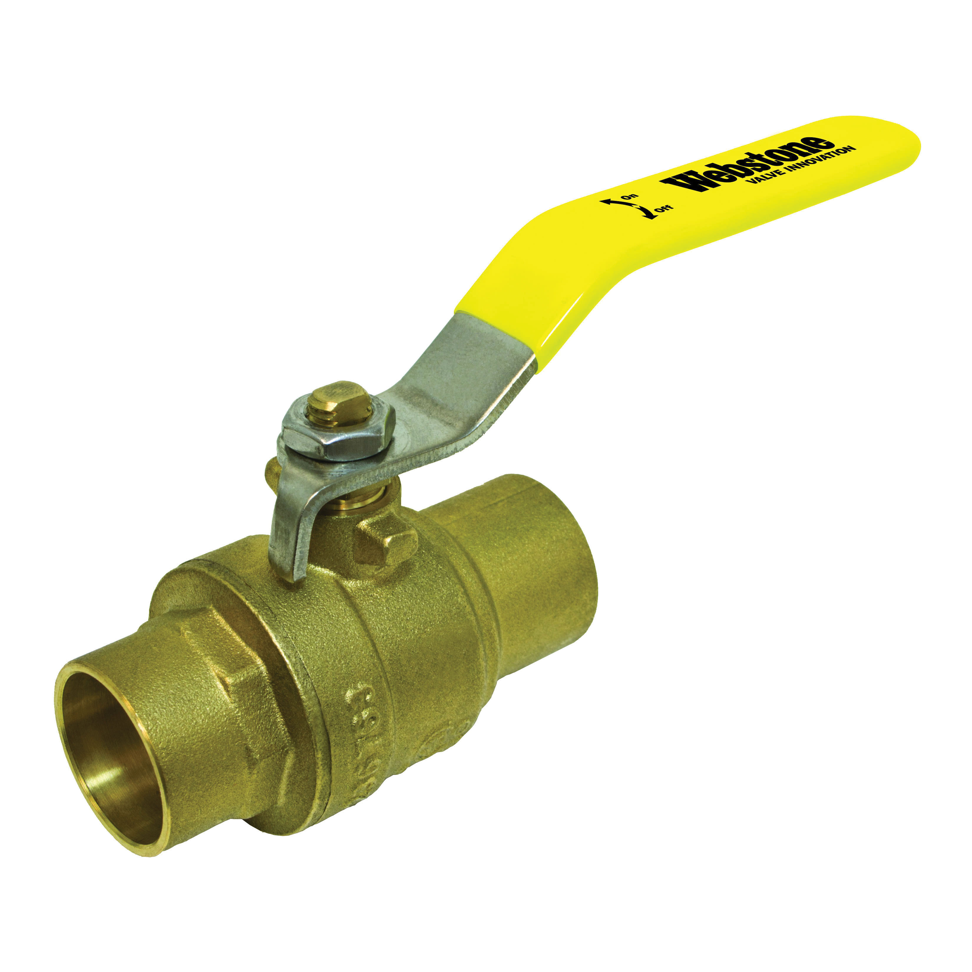 Webstone Clean Brass™ 51702 Ball Valve, 1/2 in, C, Brass Body, Full Port
