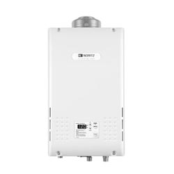 Noritz® NR981-DVC-NG Mid Efficiency Tankless Water Heater, Natural Gas Fuel, 16000 to 199900 Btu/hr Heating, Indoor/Outdoor: Indoor, 0.5 to 9.8 gpm, Concentric Direct Vent, 0.82, Commercial/Residential/Dual: Residential, Ultra Low NOx: No