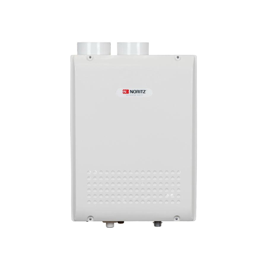 Noritz® NRC98-DV-NG High Efficiency Tankless Water Heater, Natural Gas Fuel, 16000 to 180000 Btu/hr Heating, Indoor/Outdoor: Indoor, Condensing/Non Condensing: Condensing, 0.5 to 9.8 gpm, 3 in, 4 in Direct Vent, 0.9, Ultra Low NOx: No