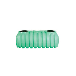 Norwesco® 43496 1-Compartment Low Profile Septic Tank With Septic Adapters, 1000 gal, 60 in Dia x 51 in H