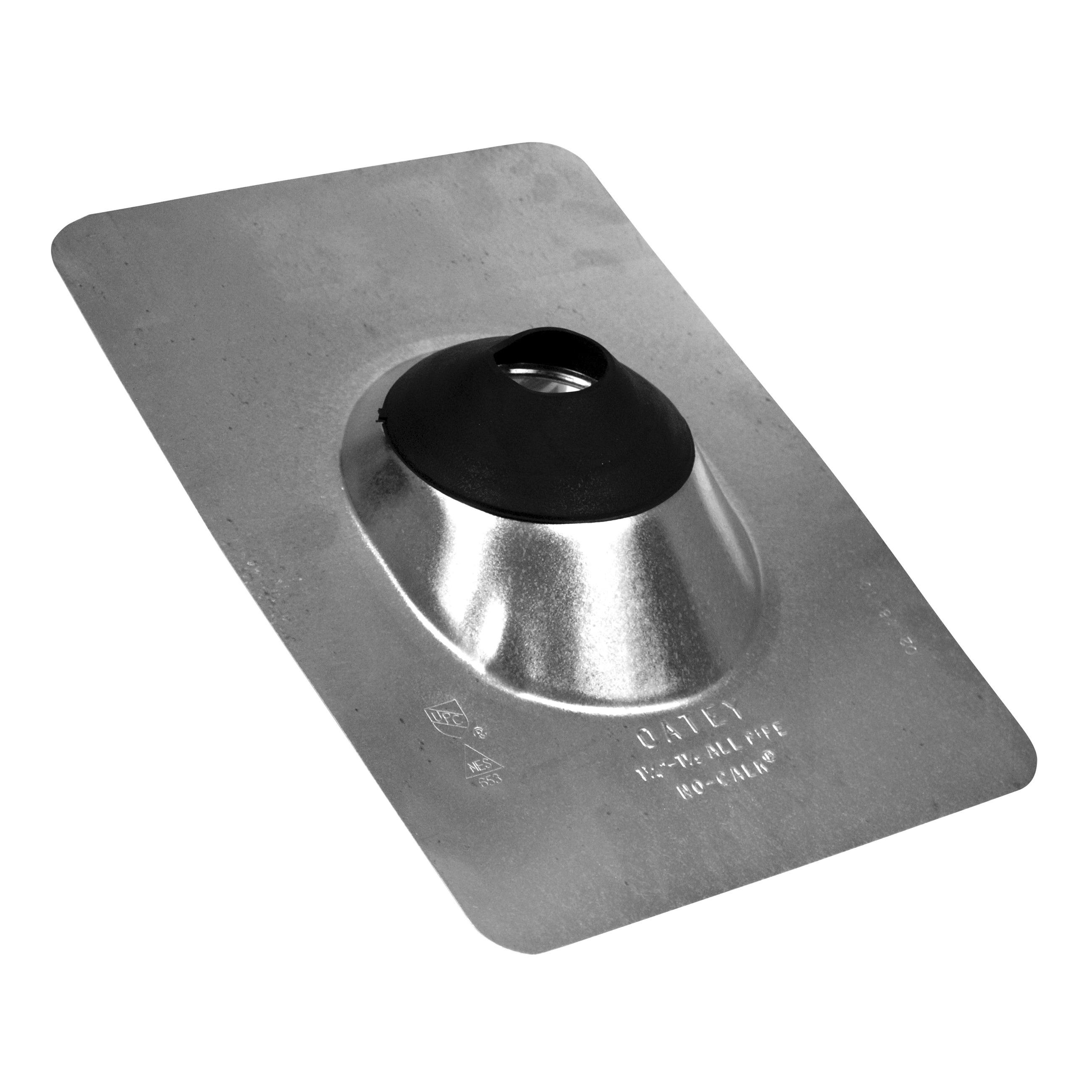 Oatey® No-Calk® 11840 Roof Flashing, 12-1/2 in L x 9 in W Base, 1 in Pipe