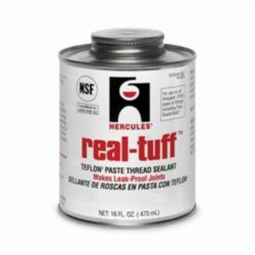 Hercules® Real Tuff™ 15625 Heavy Duty Multi-Purpose Thread Sealant, 1 pt Can, Solid, White, 1.56