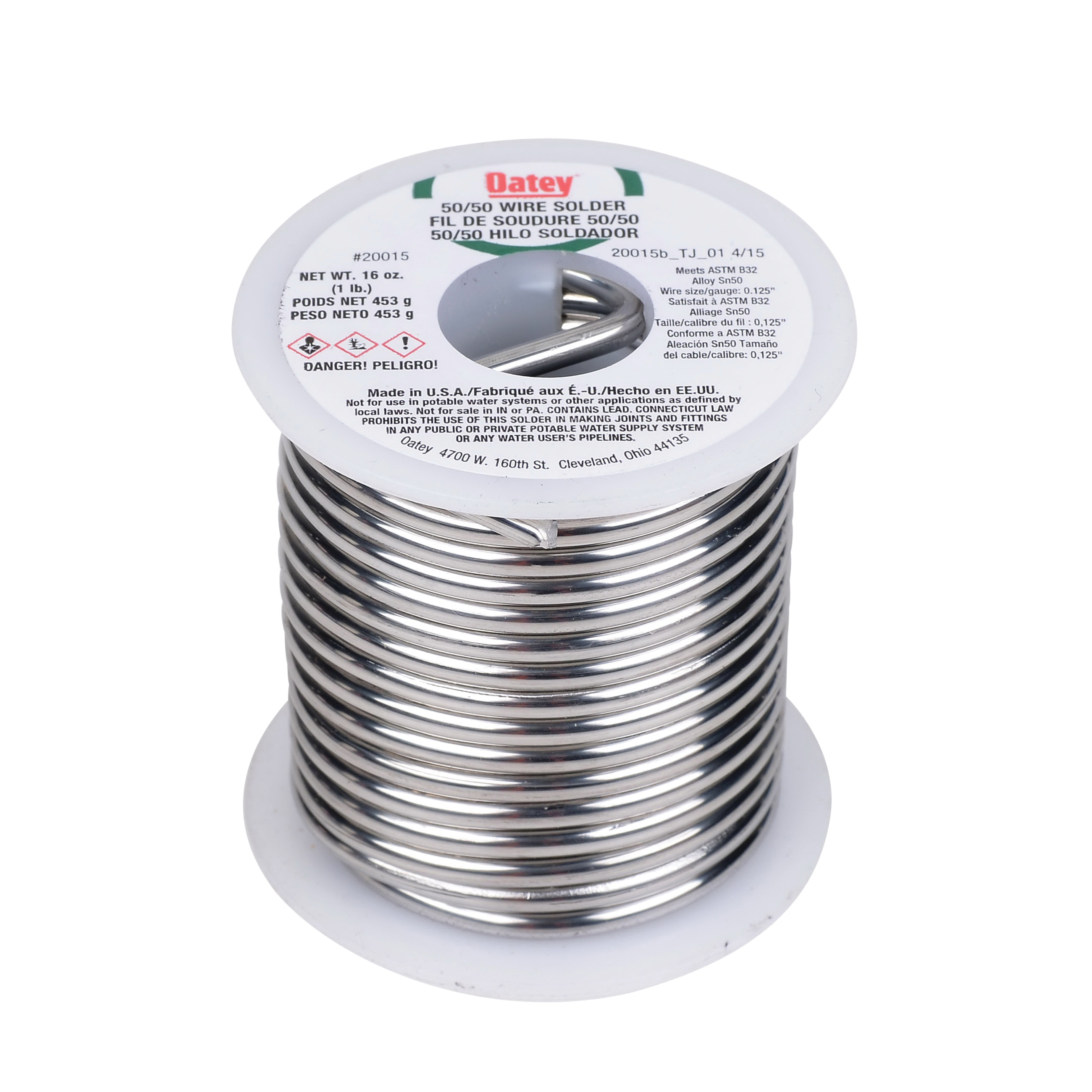 Consolidated Supply Co. | Oatey® 20015 Silver Wire Solder, 361 to ...