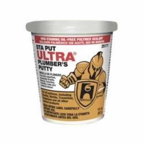 Hercules® Sta Put Ultra® 25171 Professional Plumber's Putty, 14 oz Bucket, Solid, Off-White, 1.8