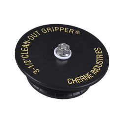 Cherne® Clean-Out Gripper® 270138 Mechanical Pipe Plug, 3-1/2 in Pipe, 2.2 in L, ABS, Black, Import
