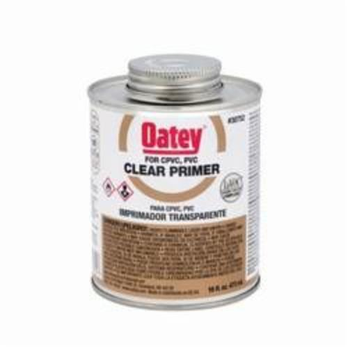 Oatey® 30752 Primer, 16 oz, For Use With PVC and CPVC Pipe and Fitting, Clear