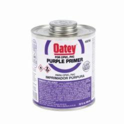Oatey® 30758 Primer, 32 oz, For Use With PVC and CPVC Pipe and Fitting, Purple