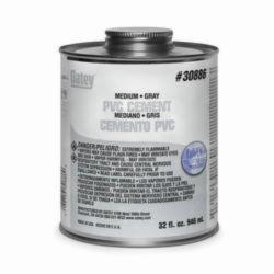 Oatey® 30886 Medium PVC Cement, 32 oz, Opaque Liquid, Gray, 0.93