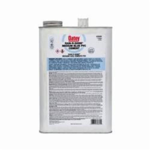 Oatey® Rain-R-Shine® 30895 Medium PVC Cement, 1 gal, Translucent Liquid, Blue, 0.92