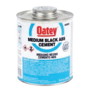 Oatey® 30915 Low VOC ABS Solvent Cement, 1 gal, Liquid, Black