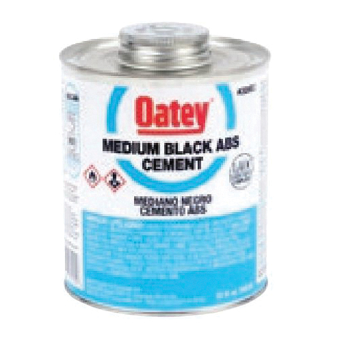 Oatey® 30915 Low VOC ABS Solvent Cement, 1 gal, Liquid, Black