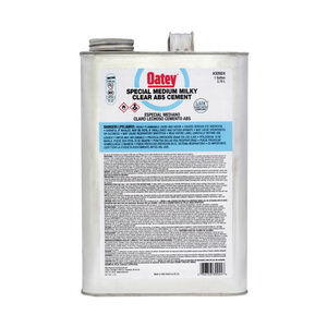 Oatey® 30924 Special Low VOC ABS Solvent Cement, 1 gal, Liquid, Milky Clear, 0.89 +/- 0.02