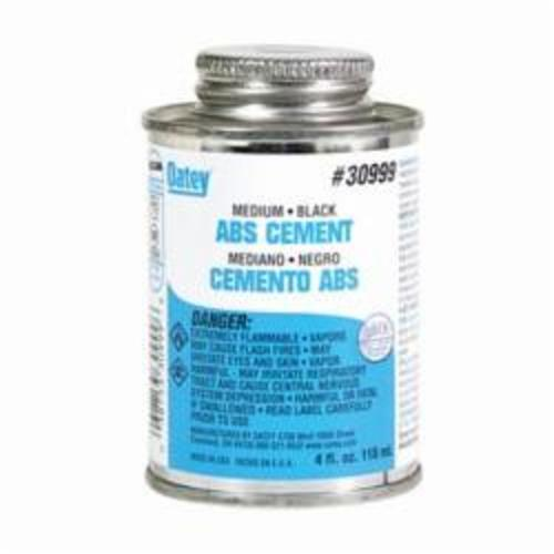 Oatey® 30999 Medium ABS Cement, 4 oz Can, Opaque Liquid, Black, 0.89