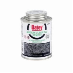 Oatey® 31018 Medium PVC Cement, 8 oz, Translucent Liquid, Clear, 0.93