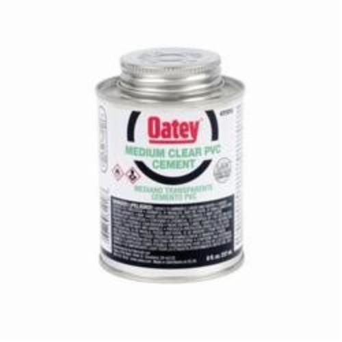 Oatey® 31018 Medium PVC Cement, 8 oz, Translucent Liquid, Clear, 0.93