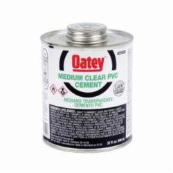 Oatey® 31020 Medium PVC Cement, 32 oz, Translucent Liquid, Clear, 0.93