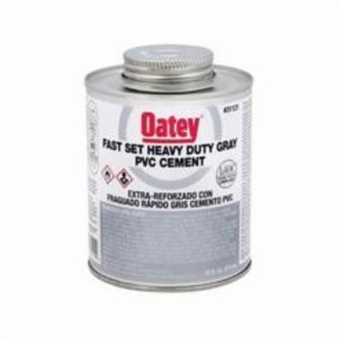 Oatey® 31122 Heavy Duty Fast Set PVC Cement, 946 mL Can, Liquid, Gray, 0.96