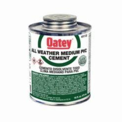Oatey® 31132 Medium All Weather PVC Cement, 16 oz Can, Translucent Liquid, Clear, 0.95