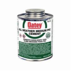 Oatey® 31133 Medium All Weather PVC Cement, 32 oz, Translucent Liquid, Clear, 0.95