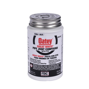 Oatey® Great White® 31230 Pipe Joint Compound With PTFE, 4 fl-oz Can, Liquid Paste, White, 1.5