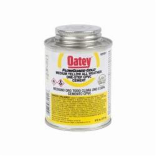 Oatey® FlowGuard Gold® 31911 1-Step All Weather CPVC Cement, 8 oz Can, Translucent Liquid, Yellow, 0.94