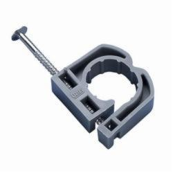 Oatey® 33905 Full Pipe Clamp With Barbed Nail, 1/2 in Pipe, Polypropylene