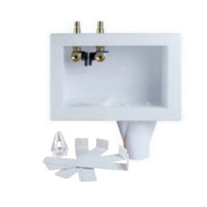 Oatey® Eliminator® 38644 Washing Machine Outlet Box Without Water Hammer Arrestor, For Use With SCH 40 PVC or ABS DWV Pipe, Polystyrene