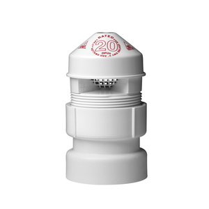 Oatey® Sure-Vent® 39017 Air Admittance Valve With 1-1/2 x 2 in PVC SCH 40 Adapter, 1-1/2 to 2 in, NPT, 20 dfu, PVC Body