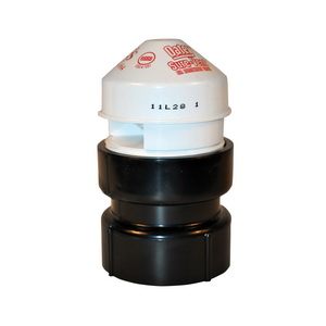 Oatey® Sure-Vent® 39018 Air Admittance Valve With 1-1/2 x 2 in ABS SCH 40 Adapter, 1-1/2 to 2 in, NPT, 20 dfu, ABS Body