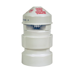 Oatey® Sure-Vent® 39019 Air Admittance Valve With 1-1/2 x 2 in ABS SCH 40 Adapter, 1-1/2 to 2 in, NPT, 20 dfu, ABS Body
