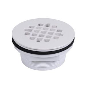 Oatey® 42075 101PNC Shower Drain With Plastic Strainer, 2 in, No Caulk, PVC Drain