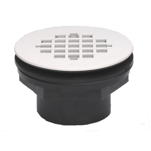 Oatey® 42089 101PS Shower Drain With Plastic Strainer, 2 in, Solvent Weld, PVC Drain